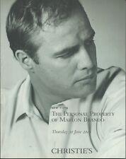 CHRISTIE'S Personal Property of MARLON BRANDO Memorabilia Auction Catalog 2005