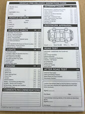 Vehicle Pre Delivery Inspection PDI form Pad A4 2 part carbonless 50 sets