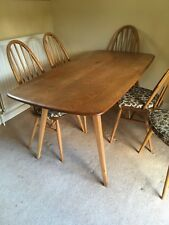 Genuine 1960's Ercol Windsor Dining Table and 6 Chairs