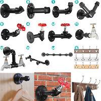 Industrial Retro Wall Iron Pipe Hook Hanging Holder Clothe Towel Coat Hats Rack