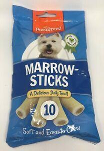 10 Marrow Sticks Tasty Doggy Dog K9 Treats Chews Reward Soft and Easy to Chew