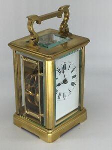 Antique brass carriage clock & key. Complete overhaul/service June 2021