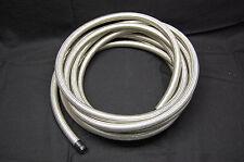 "Spectre 39525 Stainless Steel Braid Flex Hose Water Fuel Oil Line 1/2"" ID x 25'"