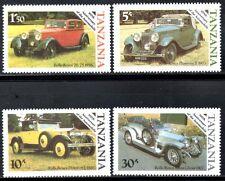(Ref-10894) Tanzania 1986 AUTO D'EPOCA ROLLS ROYCE Nuovo di zecca (Gomma integra, non linguellato) Set di 4