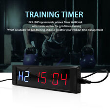 2020 LED Interval Timer Programmable Stopwatch Gym Crossfit Fitness Sport