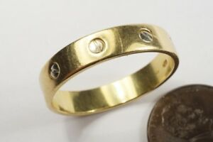 GOOD QUALITY VINTAGE 18K GOLD LOVE STYLE BAND WEDDING RING