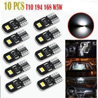 10pcs/Set Canbus 2825 T10 168 194 W5W Dome License Side Marker LED Light Bulbs