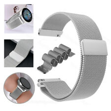 18/20/22mm Stainless Steel Magnetic Watch Band Strap Milanese Bracelet Wristband