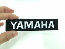 YAMAHA LOGO IRON ON PATCH DIY T-SHIRT JEANS CAP HAT BAG WHITE ON BLACK