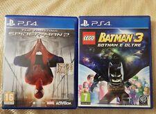 PS4 2 GIOCHI THE AMAZING SPIDER MAN 2 E BATMAN 3