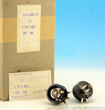 2x Vintage 80's TESLA Wire Wound 22 Ohm / 2W Potentiometer WN69170 2WT101