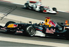 David Coulthard mano firmato RED BULL RACING FOTO 12X8 7.