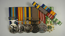 Set of 6 Vietnam long service medals + Ribbon Bar