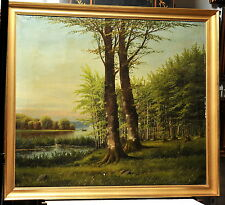 Antique painting oil on canvas c. 1882