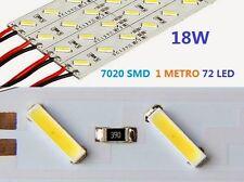 5x STRISCIA LED 7020 BARRA RIGIDA 1 METRO 1M STRIP PROFILO ALLUMINIO 72 LED