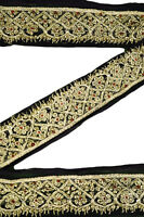 Embroidered Antique Indian Border Sari Trim, By 1 Yard Decorative Ribbon ST1607