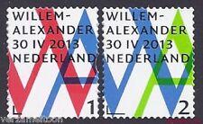 NVPH 3057 - 3058 INHULDIGINGSPOSTZEGEL: WILLEM-ALLEXANDER 1+2 gestanst 2013 pf.