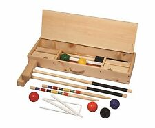 "Official 6-Player Croquet Set Hard Maple with 36"" Handles Amish Made in USA"