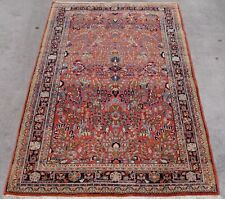 """Mint Antique 1910 Sa rouk Persiann Hand Knotted Wool Oriental Rug  4'3"""" x 7'1"""""""