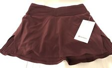 "NWT Lululemon Play Off The Pleats Skirt *13""~ Sz 2 ~ Cassis ~Run Tennis Luxtreme"
