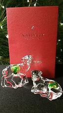 Waterford Crystal Sheep Lamb Pair Set Nativity Collection  MIB MINT in Box  Rare