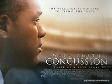 Will Smith 2015 CONCUSSION original cinema quad movie poster true story