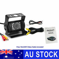 Waterproof 18 IR LED Car Rear View CCD Camera Night Vision Reverse Reversing 12V