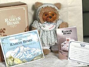 ❤️ROBERT RAIKES SUSIE Carved Face Bear  🐻 1988 LTD ED of 7500 ~ Tag BOX COA❤️