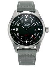 Alpina Startimer Men's AL-247B4S6 Quartz Gray Nylon Strap 42mm Watch