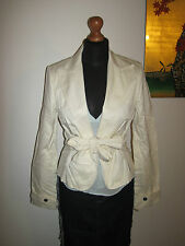 full circle Cream mac style nautical fitted jacket blazer 12 sports luxe NEW