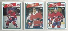 1988-89 Topps Hockey Montreal Canadiens 6-card Team Set   Patrick Roy