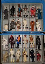 Vintage Kenner Star Wars Lot 24 Figures 1 Case Stormtrooper Princess Leia Vader