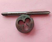 Lots 1pc HSS Machine 8-36 UNF Plug Tap and 1pc 8-36 UNF Die Threading Tool