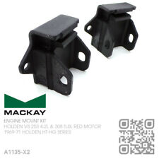 MACKAY RUBBER ENGINE MOUNTS 253 & 308 V8 RED MOTOR [HOLDEN HT-HG MONARO/GTS]