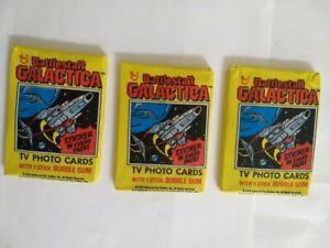 1979 Topps Battlestar Galactica  3 Wax Packs - Unopened