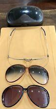 Vintage Porshe Carrera Men's Sunglasses & Case - Interchangeable Lenses