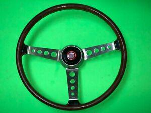 F.I.V. Secura Morris Mini Cooper Wood Steering Wheel NOS Rare