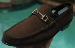 Men's GUCCI Mocha Brown suede  Horse-bit  Loafers  shoes Brand size 'G' 7.5 D