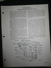 Seeburg Transistorized Stereo Amplifier TSA3 Service Manual Parts List Wiring