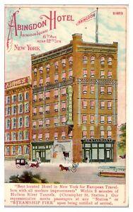 1917 Abingdon Hotel, New York City Postcard *5J11