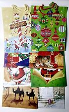 "Wholesale 30 Christmas Gift Bags Large Assorted Designs w/ Name Tag 13""x 10""x 5"""