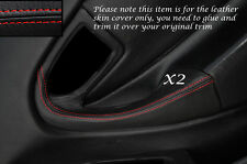 RED STITCH 2X FULL DOOR HANDLE LEATHER COVERS FITS TOYOTA CELICA MK6 94-98
