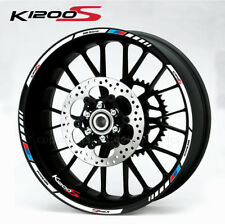 K1200S motorcycle wheel decals stickers bmw M motorrad rim stripes k1200 S