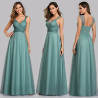Ever-Pretty Women V-Neck Wrap Sleeveless Evening Party Cocktail Maxi Prom Dress