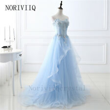 Blue Long Wedding Formal Party Prom Dresses Evening Ball Gown Bridesmaid Dress