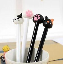 X1 Random Maneki Neko Lucky Fortune Cat Head Claw Ball Point Pen Stationery