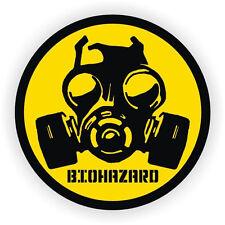 Bio-Hazard Gas Mask Symbol Hard Hat Sticker / Helmet Label Decal Zombie Virus