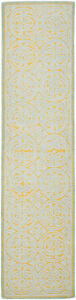 Safavieh Cambridge BLUE / GOLD Wool Runner 2' 6 x 14' - CAM234A-214