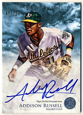 ADDISON RUSSELL 2013 BOWMAN INCEPTION BLUE AUTOGRAPH #/75 AUTO ROOKIE RC CUBS !!