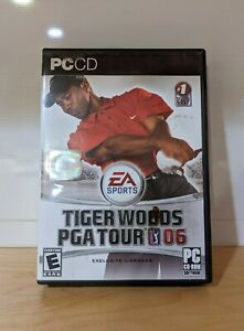 EA SPORTS Tiger Woods PGA Tour 06 2006 PC CD-ROM Video Game USED UNTESTED